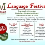 """Free Language Festival on 14th of December at Wimbledon Library"""